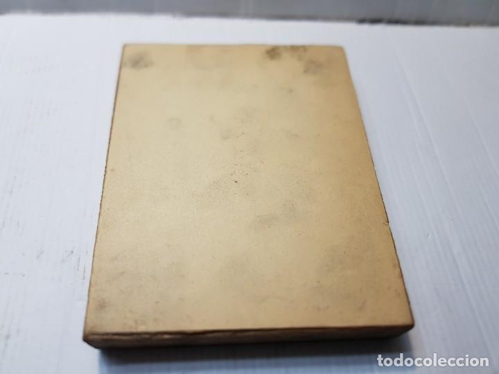 Antigüedades: Tampon Metalico-Cliche Imprenta metalico Fotografía Mujer Con Mantilla y Abanico firmada por autor - Foto 4 - 236827270