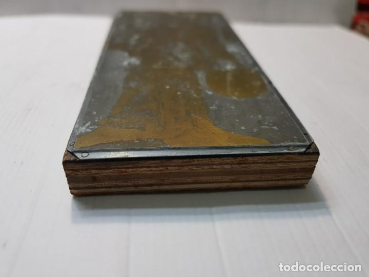 Antigüedades: Tampon Metalico-Cliche Imprenta metalico Charles Chaplin - Foto 3 - 236828790