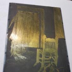 Antigüedades: TAMPON METALICO-CLICHE IMPRENTA METALICO CASA DE PESCADORES FIRMADO POR AUTOR. Lote 236829835