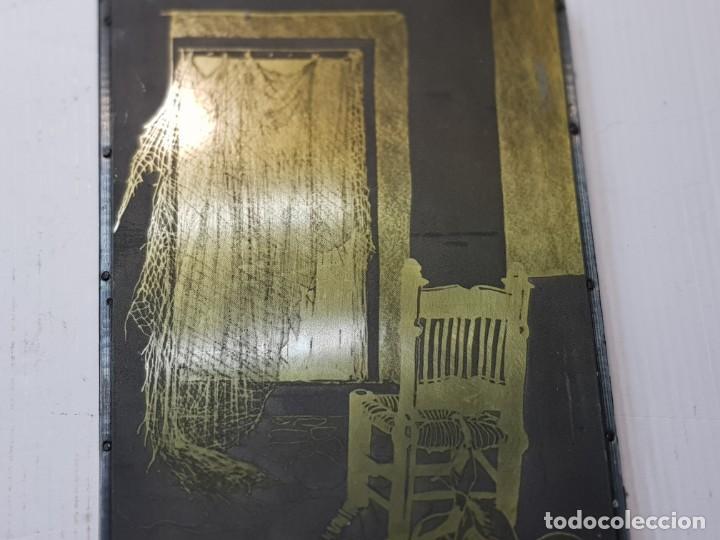 Antigüedades: Tampon Metalico-Cliche Imprenta metalico casa de Pescadores firmado por autor - Foto 3 - 236829835