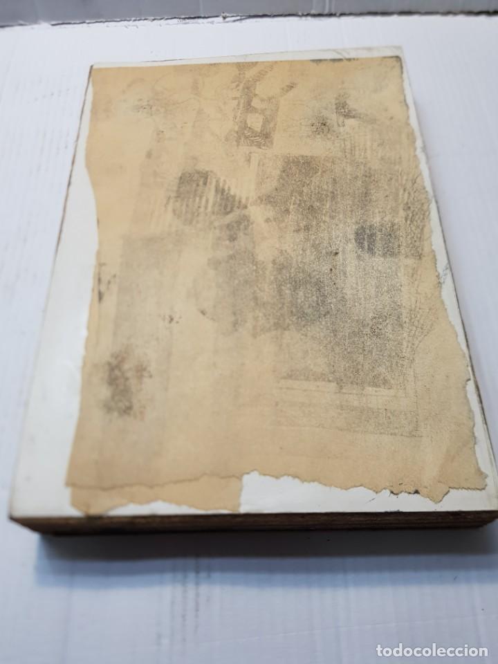 Antigüedades: Tampon Metalico-Cliche Imprenta metalico casa de Pescadores firmado por autor - Foto 5 - 236829835