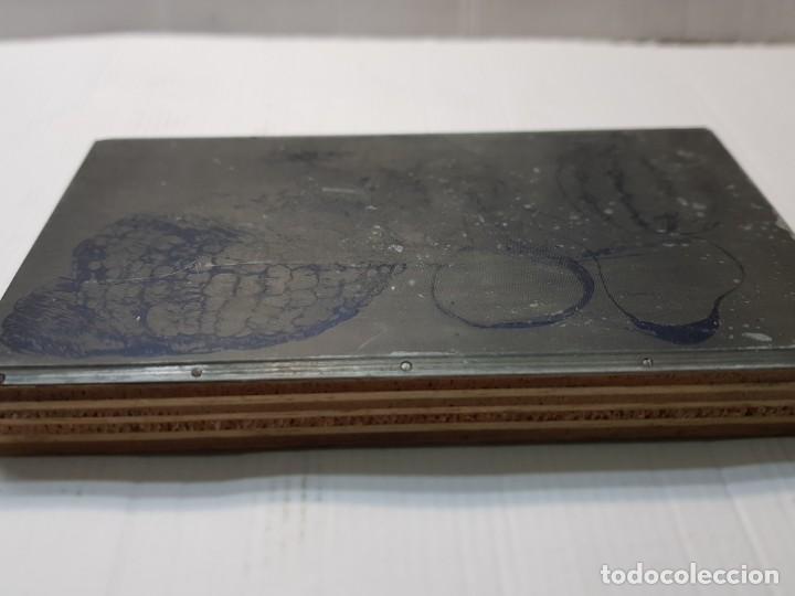 Antigüedades: Tampon Metalico-Cliche Imprenta metalico Bodegon - Foto 2 - 236830705