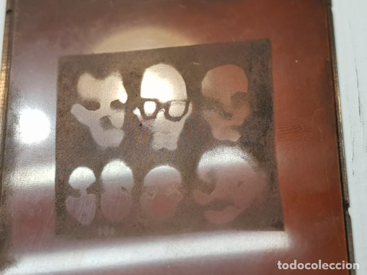 Antigüedades: Tampon Metalico-Cliche Imprenta en Bronce Rostros pieza Abstracta - Foto 2 - 236831375