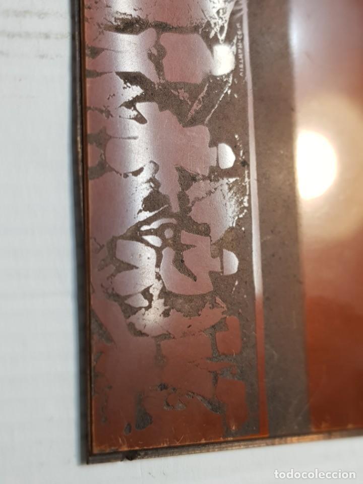 Antigüedades: Tampon Metalico-Cliche Imprenta en Bronce Rostros pieza Abstracta - Foto 3 - 236831375