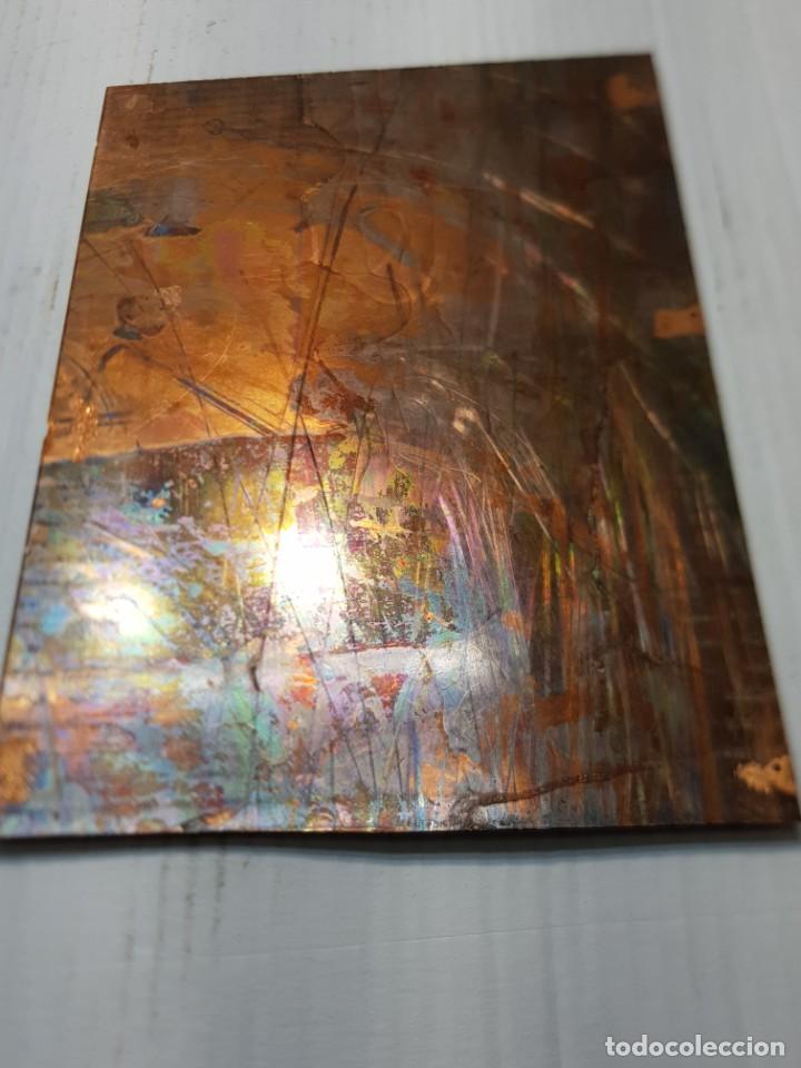 Antigüedades: Tampon Metalico-Cliche Imprenta en Bronce Rostros pieza Abstracta - Foto 4 - 236831375