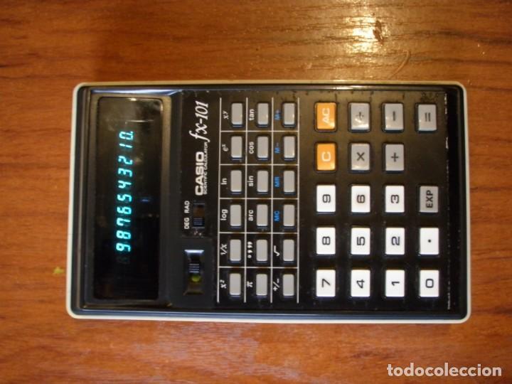 CALCUALDORA CASIO FX-101 FX101 FUNCIONANDO (Antigüedades - Técnicas - Aparatos de Cálculo - Calculadoras Antiguas)