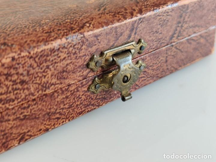 Antigüedades: Antiguo estuche de costura con espejo - Foto 3 - 237002275