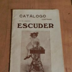 Antigüedades: CATÁLOGO ESCUDER 1913 - MAQUINA S DE COSER - AURORA. TERRASSA INDUSTRIA MECÁNICA INGENIERIA. Lote 237040865