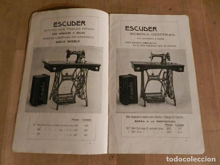 Antigüedades: CATÁLOGO ESCUDER 1913 - MAQUINA S DE COSER - AURORA. TERRASSA INDUSTRIA MECÁNICA INGENIERIA - Foto 4 - 237040865