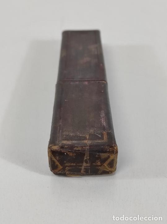 Antigüedades: Navaja de Barbero - Filarmónica 14 - José Montserrat Pou - Sello Águila Imperial - con Caja - Foto 10 - 237075850