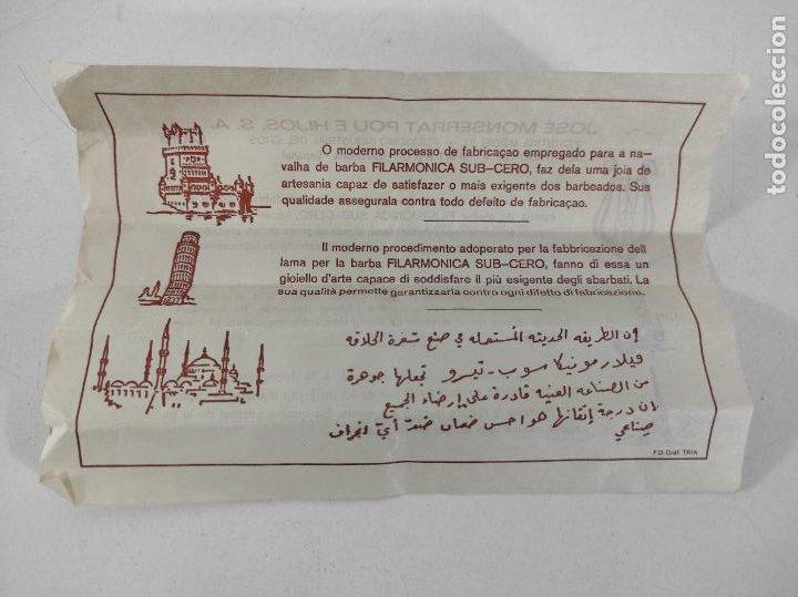 Antigüedades: Navaja de Barbero - Filarmónica 14 Sub Cero - José Montserrat Pou - con Caja y Instrucciones - Foto 14 - 237081105