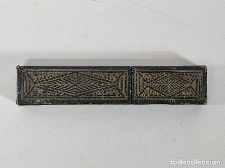 Antigüedades: Navaja de Barbero - Filarmónica 14 Sub Cero - José Montserrat Pou - con Caja y Instrucciones - Foto 15 - 237081105