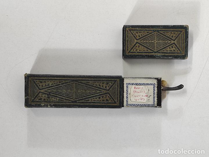 Antigüedades: Navaja de Barbero - Filarmónica 14 Sub Cero - José Montserrat Pou - con Caja y Instrucciones - Foto 16 - 237081105