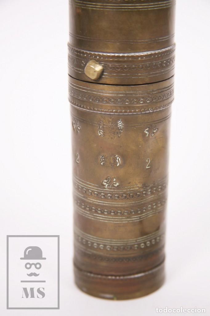 Antigüedades: Antiguo Molinillo de Café Otomano o Turco - Latón - Primera Mitad S. XX - Restauración - Foto 4 - 237090480