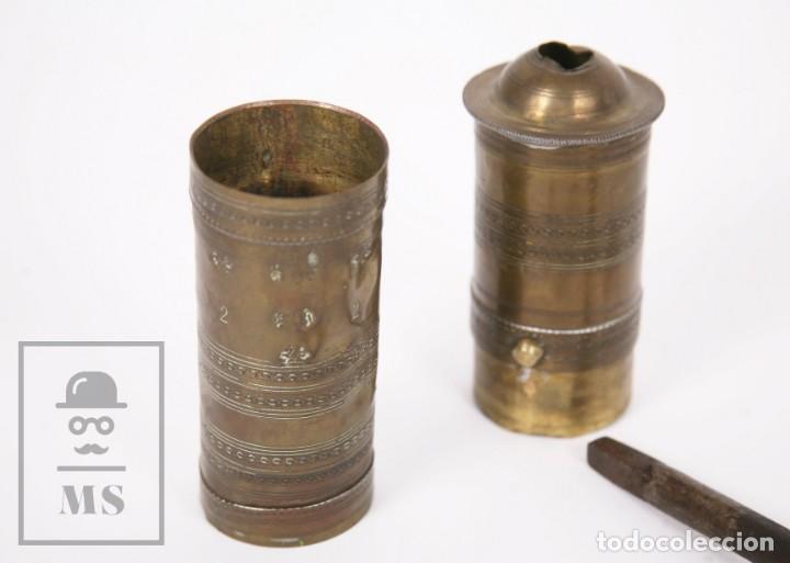 Antigüedades: Antiguo Molinillo de Café Otomano o Turco - Latón - Primera Mitad S. XX - Restauración - Foto 12 - 237090480