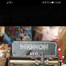 Antigüedades: AEG MIGNON MÁQUINA ESCRIBIR. Lote 237157295