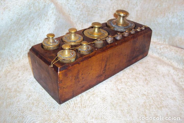 JUEGO DE PESAS 2 KGS (Antigüedades - Técnicas - Medidas de Peso - Ponderales Antiguos)