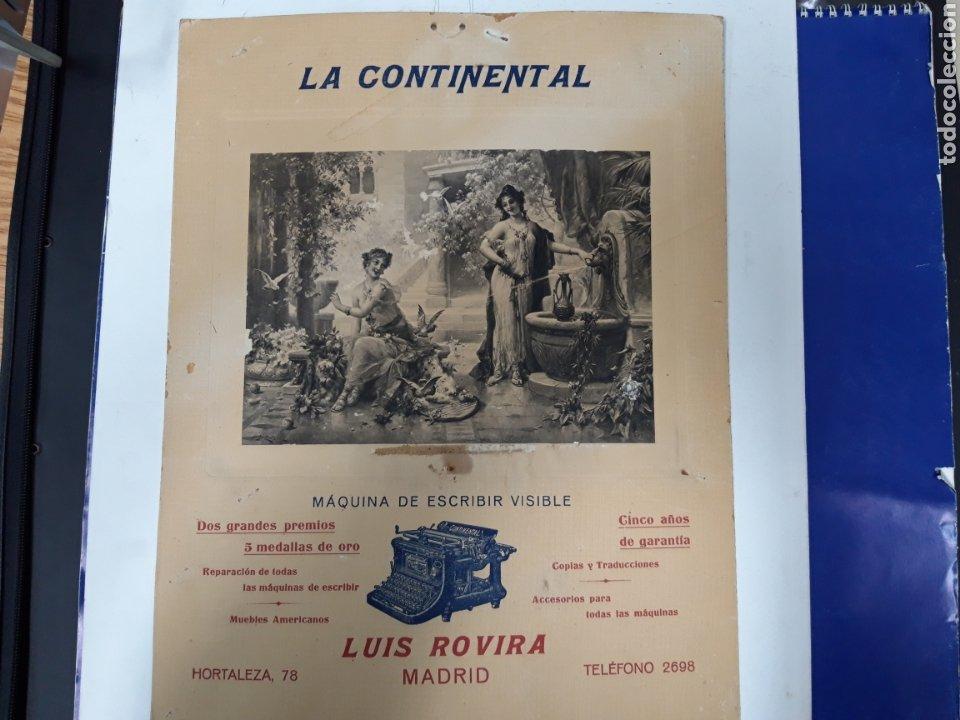 PUBLICIDAD MAQUINA CONTINENTAL (Antigüedades - Técnicas - Máquinas de Escribir Antiguas - Continental)