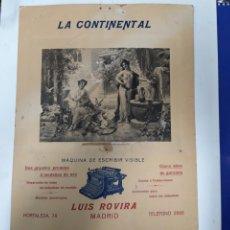 Antigüedades: PUBLICIDAD MAQUINA CONTINENTAL. Lote 237274065