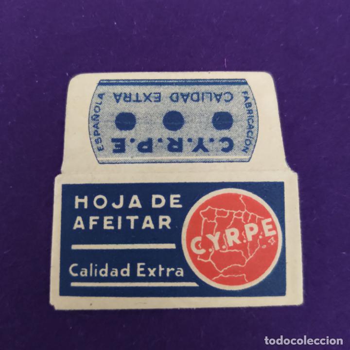 FUNDA Y HOJA DE AFEITAR ANTIGUA. CYPRE CALIDAD EXTRA.. (Antigüedades - Técnicas - Barbería - Hojas de Afeitar Antiguas)