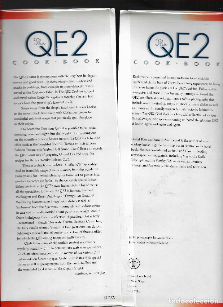 Antigüedades: Trasatlantico Queen Elizabeth 2 antiguo ,Libro de su cocina gran tamaño RARO Y PERFECTO ingles - Foto 2 - 237365415