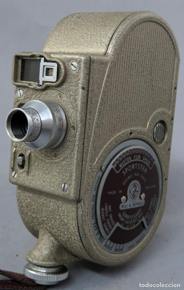 Antigüedades: Cámara de cine tomavistas inglesa Bell & Howell Sportster años 30 - Foto 3 - 237696115