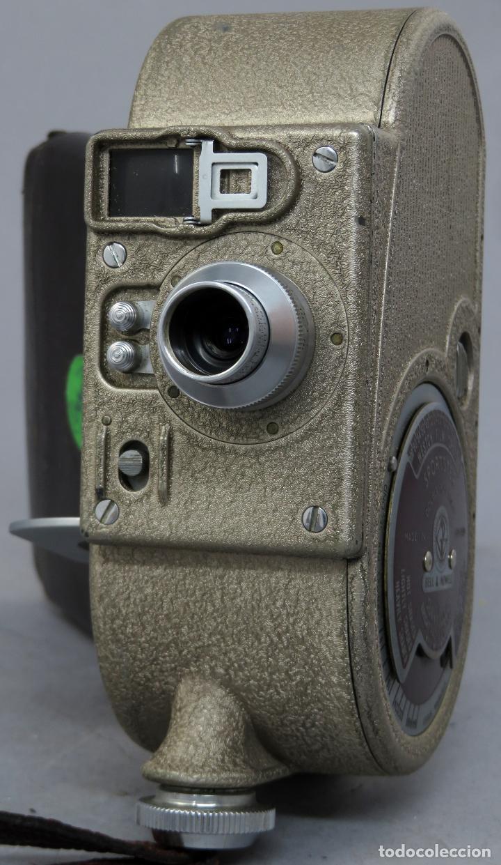 Antigüedades: Cámara de cine tomavistas inglesa Bell & Howell Sportster años 30 - Foto 4 - 237696115