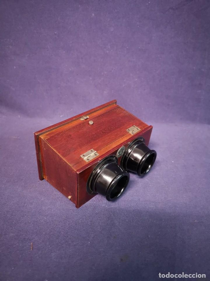 VISOR ESTEREOSCOPICO ALEMAN (Antigüedades - Técnicas - Otros Instrumentos Ópticos Antiguos)