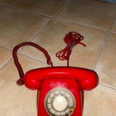 Teléfonos: TELEFONO VINTAGE HERALDO DE DISCO DE CITESA TELEFONICA COLOR ROJO AÑOS 70 80. Lote 237829260