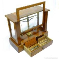 Antigüedades: 1900C BALANZA DE PRECISION ADNET DE PARIS - GRANDE. Lote 237886030