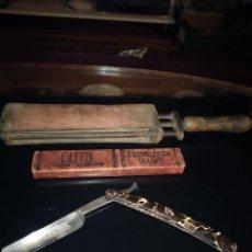 Antigüedades: NAVAJA SUAVIZADOR Y CAJA. Lote 237918330
