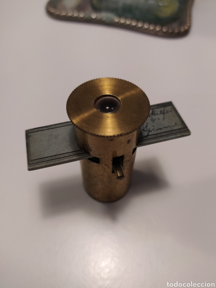 Antigüedades: Antiguo Microscopio de bolsillo - Foto 9 - 219491381