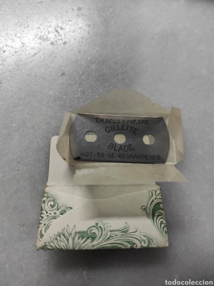 Antigüedades: Antigua cuchilla de afeitar Gillette Blade - Foto 2 - 238089800