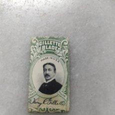 Antigüedades: ANTIGUA CUCHILLA DE AFEITAR GILLETTE BLADE. Lote 238089800