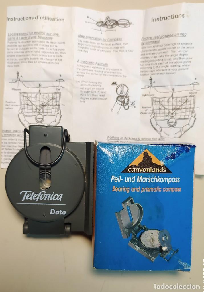Antigüedades: PRISMÁTIC COMPASS TELEFONICA - Foto 7 - 238107355