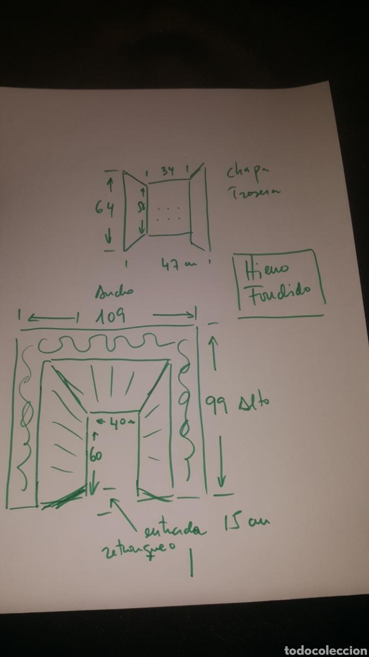 Antigüedades: frontal de hierro fundido para chimenea - Foto 6 - 27407557