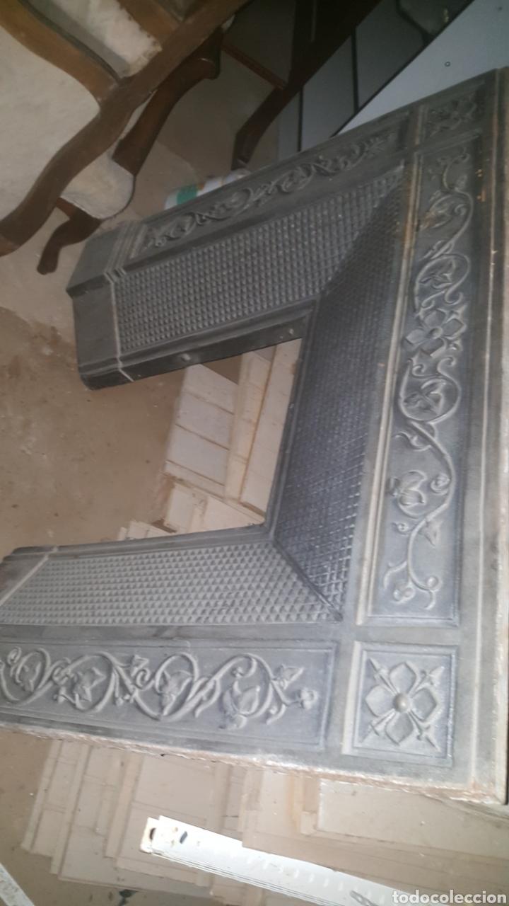 Antigüedades: frontal de hierro fundido para chimenea - Foto 8 - 27407557