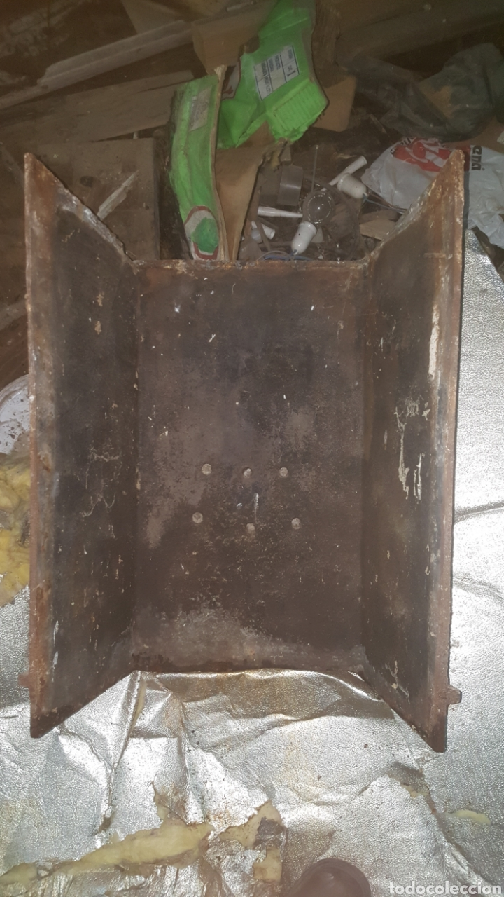 Antigüedades: frontal de hierro fundido para chimenea - Foto 13 - 27407557