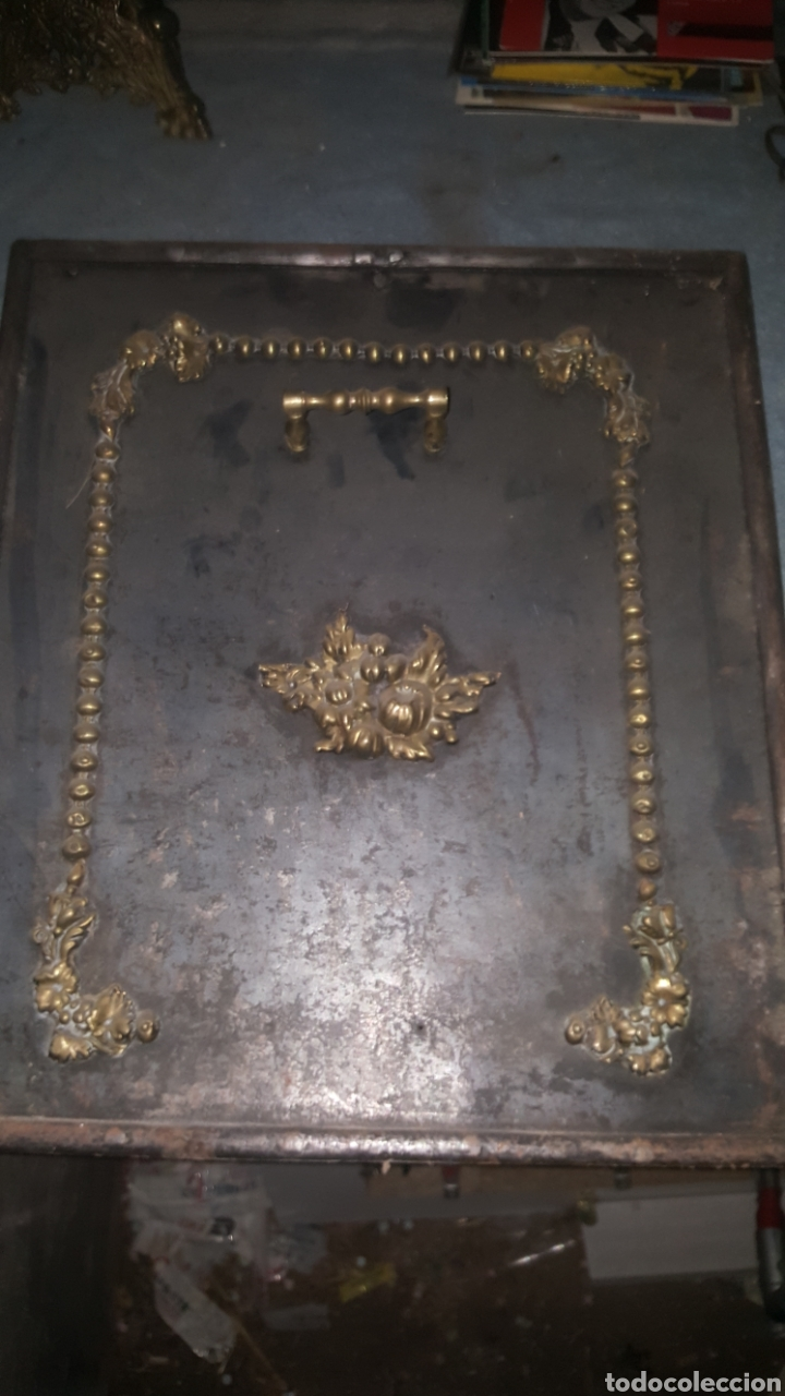 Antigüedades: frontal de hierro fundido para chimenea - Foto 15 - 27407557