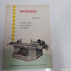 Antigüedades: PUBLICIDAD MAQUINA DE CONTABILIDAD MERCEDES. Lote 238204045