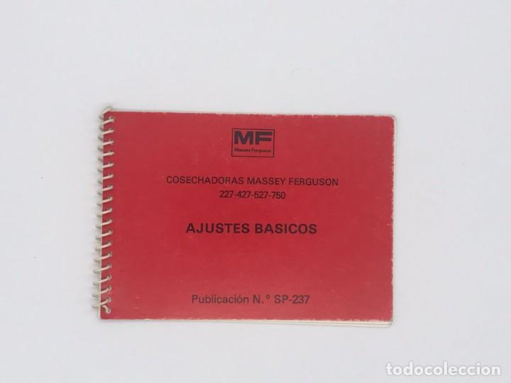 MANUAL DE COSECHADORAS MASSEY FERGUSON 227-427-527-750-AJUSTES BASICOS (Antigüedades - Técnicas - Herramientas Profesionales - Mecánica)