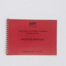 Antigüedades: MANUAL DE COSECHADORAS MASSEY FERGUSON 227-427-527-750-AJUSTES BASICOS. Lote 238226730