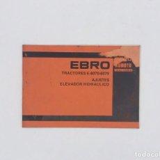 Antiguidades: EBRO KUBOTA TRACTOR E-6070 - 6070 - AJUSTES ELEVADOR HIDRAULICO. Lote 238236835