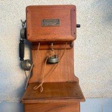 Telefones: TELEFONO ANTIGUO MURAL 1911 FRANCIA BOITE DE SEL. Lote 238261270
