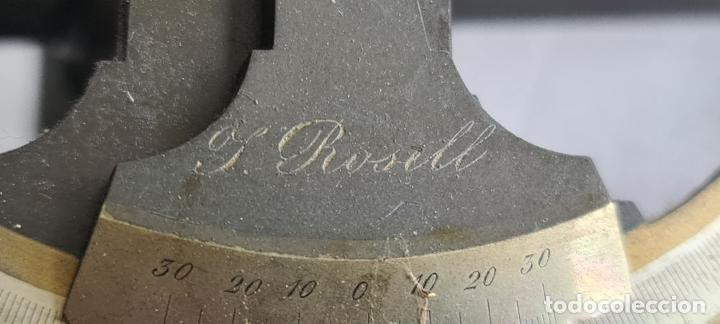 Antigüedades: TEODOLITO DE NIVEL. J. ROSELL. BARCELONA. CAJA Y TRÍPODE ORIGINAL. SIGLO XIX. - Foto 24 - 238373185