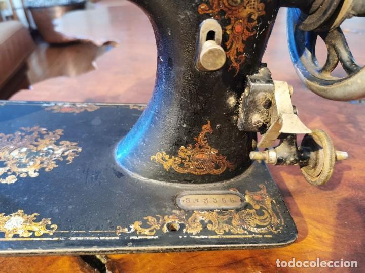 Antigüedades: ANTIGUA MAQUINA DE COSER WERTHEIM - Foto 2 - 238428685