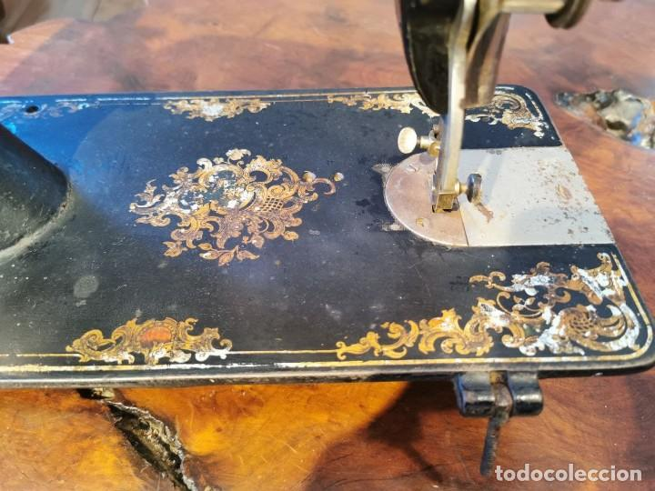 Antigüedades: ANTIGUA MAQUINA DE COSER WERTHEIM - Foto 12 - 238428685