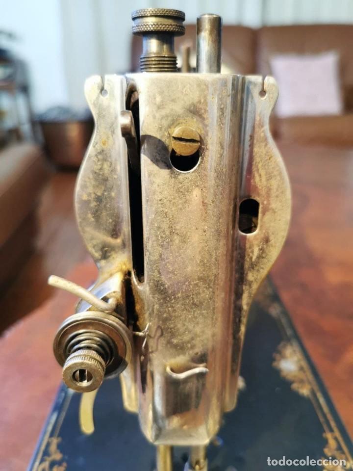 Antigüedades: ANTIGUA MAQUINA DE COSER WERTHEIM - Foto 16 - 238428685
