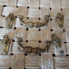 Antigüedades: JUEGO DE 2 TIRADORES ANTIGUOS. Lote 238449665