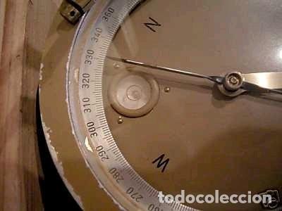 Antigüedades: Brújula alemana metálica en su caja de madera, hacia 1950 - Foto 15 - 238475695
